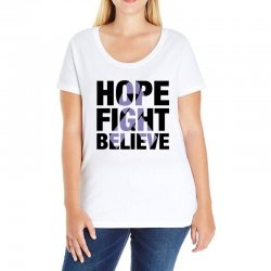 hope fight believe for light Ladies Curvy T-Shirt | Artistshot