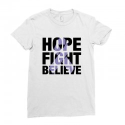 hope fight believe for light Ladies Fitted T-Shirt | Artistshot