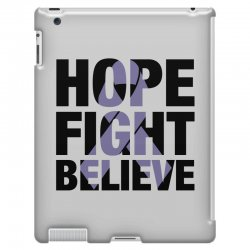 hope fight believe for light iPad 3 and 4 Case | Artistshot