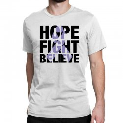 hope fight believe for light Classic T-shirt | Artistshot