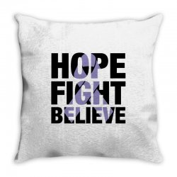 hope fight believe for light Throw Pillow | Artistshot