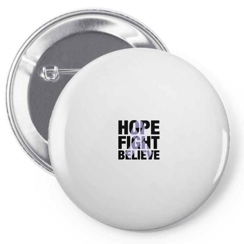 Hope Fight Believe For Light Pin-back Button | Artistshot