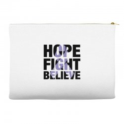 hope fight believe for light Accessory Pouches | Artistshot