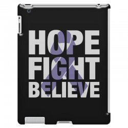 hope fight believe for dark iPad 3 and 4 Case | Artistshot