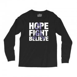 hope fight believe for dark Long Sleeve Shirts | Artistshot