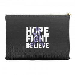 hope fight believe for dark Accessory Pouches | Artistshot
