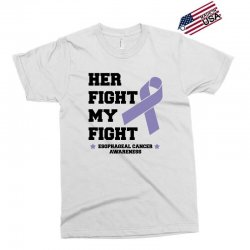 her fight my fight esophageal cancer for light Exclusive T-shirt | Artistshot