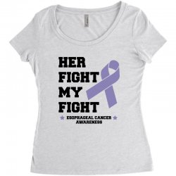 her fight my fight esophageal cancer for light Women's Triblend Scoop T-shirt | Artistshot