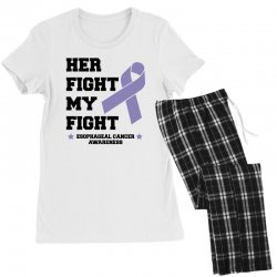 her fight my fight esophageal cancer for light Women's Pajamas Set | Artistshot