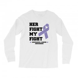 her fight my fight esophageal cancer for light Long Sleeve Shirts | Artistshot