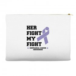 her fight my fight esophageal cancer for light Accessory Pouches | Artistshot