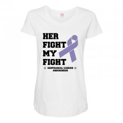 her fight my fight esophageal cancer for light Maternity Scoop Neck T-shirt | Artistshot
