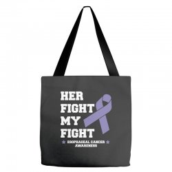 her fight my fight esophageal cancer for dark Tote Bags | Artistshot