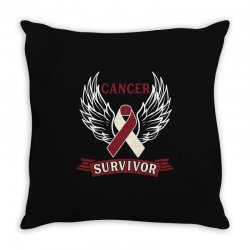 cancer survivor head and neck cancer for dark Throw Pillow | Artistshot