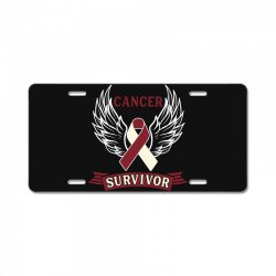 cancer survivor head and neck cancer for dark License Plate | Artistshot