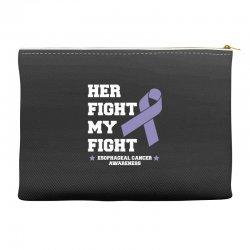 her fight my fight esophageal cancer for dark Accessory Pouches | Artistshot