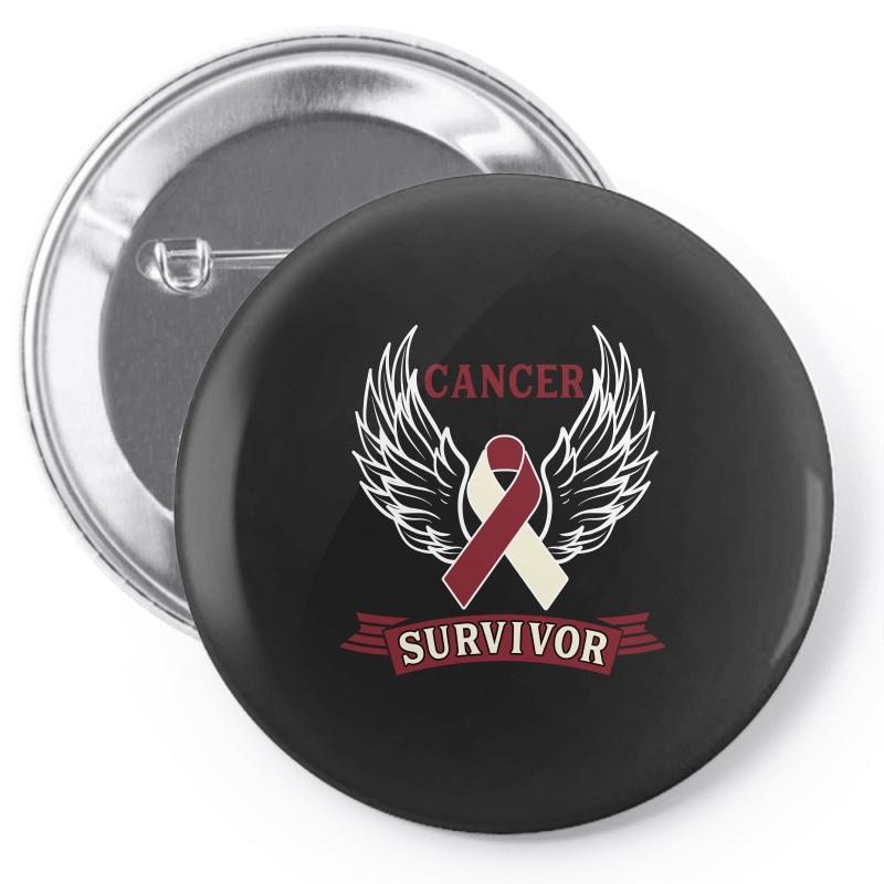 Cancer Survivor Head And Neck Cancer For Dark Pin-back Button | Artistshot