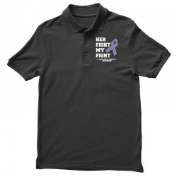 her fight my fight esophageal cancer for dark Polo Shirt | Artistshot