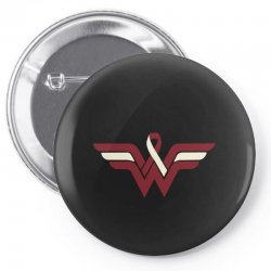 head and neck cancer wonder woman Pin-back button   Artistshot