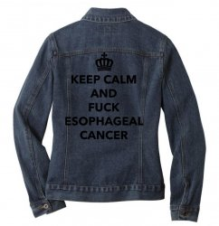 fuck esophageal for light Ladies Denim Jacket | Artistshot