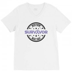 esophageal survivor for light V-Neck Tee | Artistshot