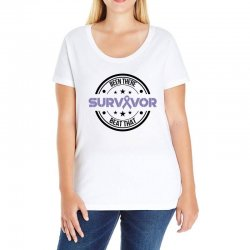 esophageal survivor for light Ladies Curvy T-Shirt | Artistshot
