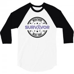 esophageal survivor for light 3/4 Sleeve Shirt | Artistshot