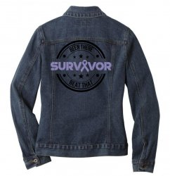 esophageal survivor for light Ladies Denim Jacket | Artistshot