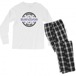 esophageal survivor for light Men's Long Sleeve Pajama Set | Artistshot