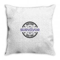 esophageal survivor for light Throw Pillow | Artistshot