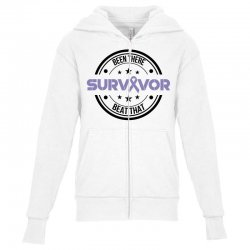 esophageal survivor for light Youth Zipper Hoodie | Artistshot