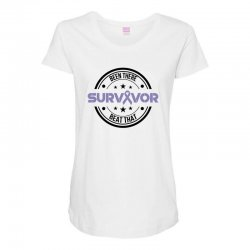esophageal survivor for light Maternity Scoop Neck T-shirt | Artistshot