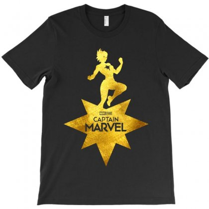 Captain Marvel T-shirt Designed By Toweroflandrose