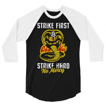 Strike First Strike Hard No Mercy 3/4 Sleeve Shirt Designed By Toweroflandrose