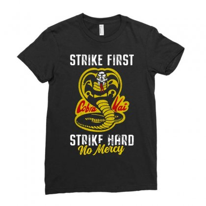 Strike First Strike Hard No Mercy Ladies Fitted T-shirt Designed By Toweroflandrose
