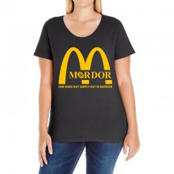 mordor one does not simply eat in mordor Ladies Curvy T-Shirt | Artistshot