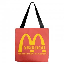 mordor one does not simply eat in mordor Tote Bags | Artistshot