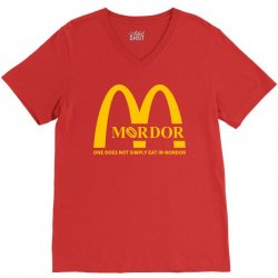 mordor one does not simply eat in mordor V-Neck Tee | Artistshot