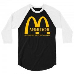 mordor one does not simply eat in mordor 3/4 Sleeve Shirt | Artistshot