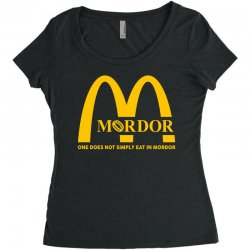 mordor one does not simply eat in mordor Women's Triblend Scoop T-shirt | Artistshot