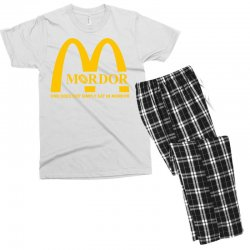 mordor one does not simply eat in mordor Men's T-shirt Pajama Set | Artistshot