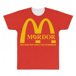 mordor one does not simply eat in mordor All Over Men's T-shirt | Artistshot