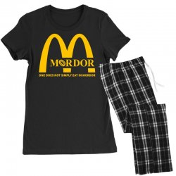 mordor one does not simply eat in mordor Women's Pajamas Set | Artistshot