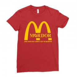 mordor one does not simply eat in mordor Ladies Fitted T-Shirt | Artistshot