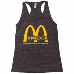 mordor one does not simply eat in mordor Racerback Tank | Artistshot