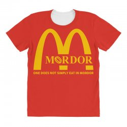 mordor one does not simply eat in mordor All Over Women's T-shirt | Artistshot