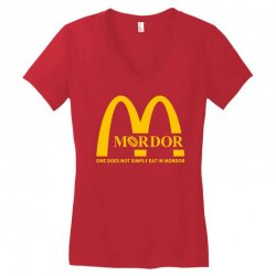 mordor one does not simply eat in mordor Women's V-Neck T-Shirt | Artistshot