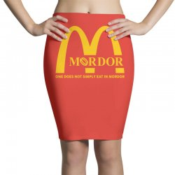 mordor one does not simply eat in mordor Pencil Skirts | Artistshot