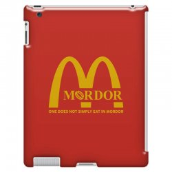 mordor one does not simply eat in mordor iPad 3 and 4 Case | Artistshot