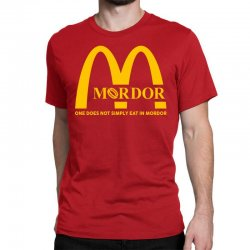 mordor one does not simply eat in mordor Classic T-shirt | Artistshot